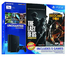 SONY PLAYSTATION4 PS4 SLIM 1TB CONSOLE @ MODEL CUH-2008B @ 5 FREE GAME BUNDLE