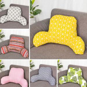 Bed Rest Pillow Lounger Back Support Arm Waist Reading Backrest Cushion Lumbar