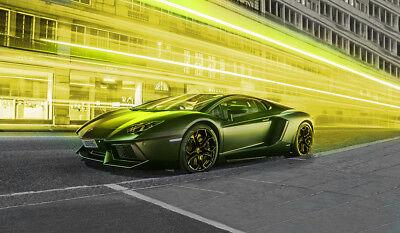 Neu moderne Tapete Vlies Fototapete Auto Car Sportwagen Lamborghini Aventador