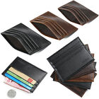 Business Men's Crazy Horse Leather Slim Credit ID Card Holder Wallet Purse Pouch