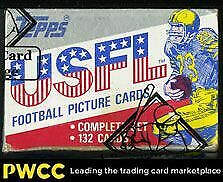 1985 Topps USFL Sealed Set, Herschel Reggie White Steve Young ROOKIE BBCE Auth