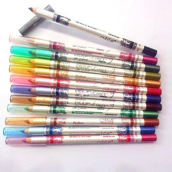 12PCS Makeup Tool Glitter Eyeliner Eye Pencil Lipliner Cosmetic Eye Shadow Set