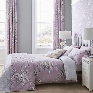 Catherine-Lansfield-Canterbury-Heather-Floral-Edredon-Juego-de-cama-de-facil-cuidado