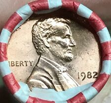 1982 P Small Date Copper Lincoln Cent Roll Penny OBW Uncirculated