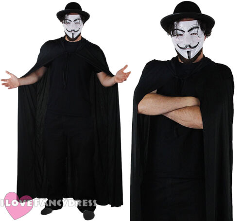 ANONYMOUS ONE FANCY DRESS COSTUME PROTEST MARCH HACKER HALLOWEEN GUY FAWKES