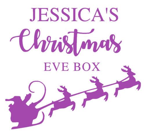 DIY Christmas Eve Box Personalised Christmas Eve Box Sticker Vinyl decal
