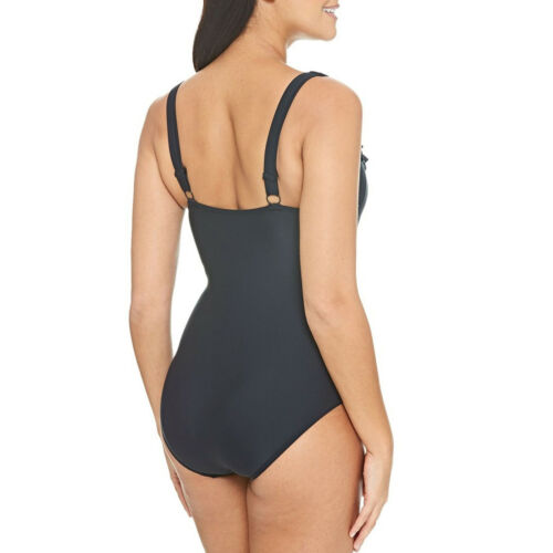 Zoggs Womens Coolum Frill Classicback Swimming Swim Pool Swimsuit Costume Black