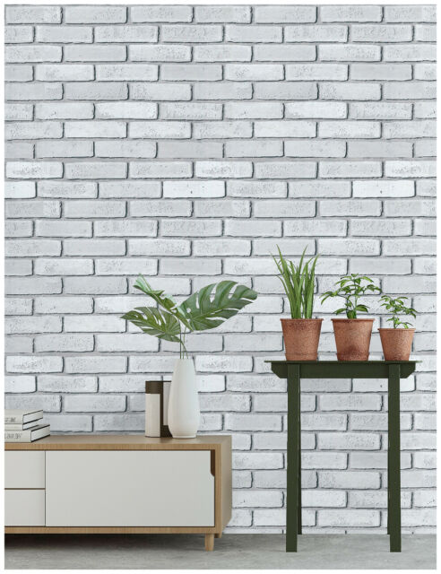 3d Peel And Stick Faux Brick Stone Wallpaper Grey Wall Mural Contact Paper Roll