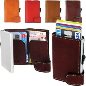 Kartenetui-RFID-Geldboerse-Aluminium-TONY-PEROTTI-Italy-Leather-Cardprotector-NEU