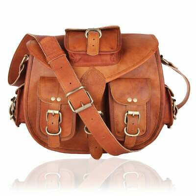 Vintage Leather Messenger Women Purse Tote Handbag Satchel Cross body Bag