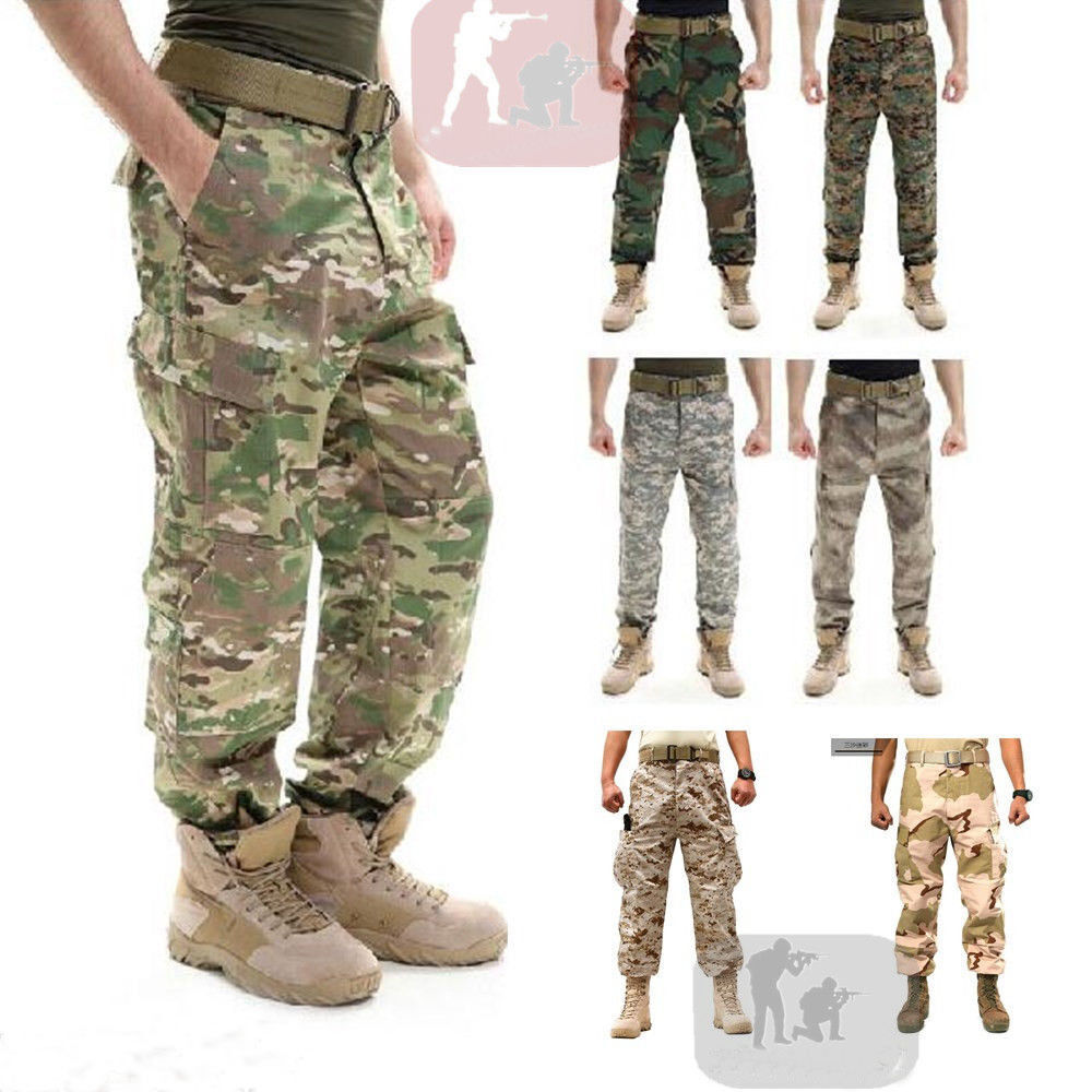 58e89b670d8c Airsoft TACTICAL Military Army Designer Camo Combat Cargo Trousers Pants  Hunting. New Oliver Spencer Men s bluee Slim ...