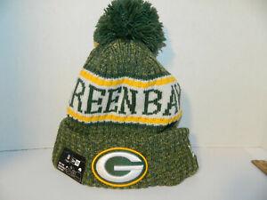 GREEN BAY PACKERS Knit Hat NFL New Era Winter Pom cuffed Beanie Knit ... 969b1ad90