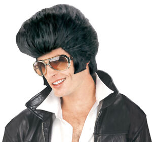 One Size Forum Novelties Men/'s Rock N/' Roll Elvis Presley Wig Black