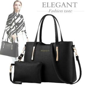 Uk 2pcs Set Womens Handbags Fashion