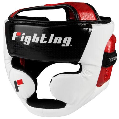 Black//White//Red Fighting Sports Tri-Tech Fascinate Full Training Headgear