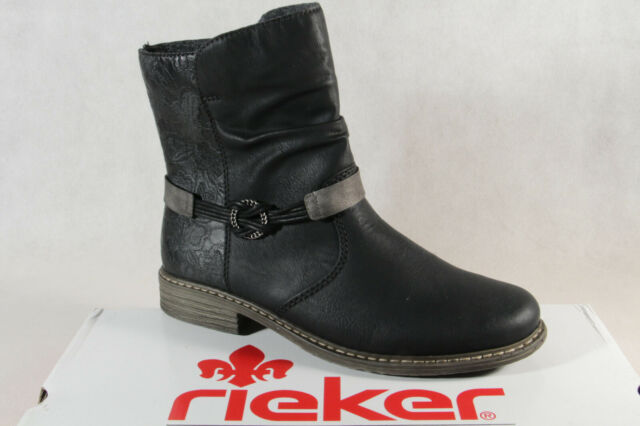 Rieker Women's Boots Ankle Boots Laced Boots Black Z21P0 New