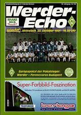 CWC - EC II 91/92 SV Werder Bremen - Ferencvaros Budapest, 23.10.1991