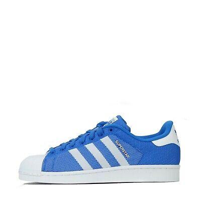 adidas Originals Superstar Weave Shell Toe Men's Trainers Shoes Blue UK 7   eBay