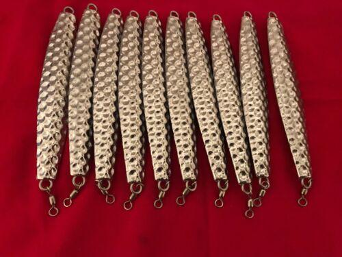LingCod,Rockfish,Tuna 10 fishing jigs 16oz hammered diamond vertical jigs for
