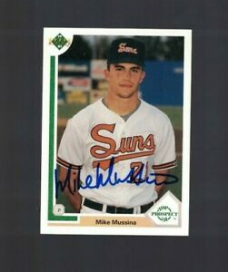 Mike Mussina Baltimore Orioles Signed 1991 Upper Deck Rookie Card W/Our COA B