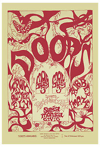 Details about Psychedelic: Jim Morrison & The Doors at Santa Monica Concert  Poster 1967 13x19