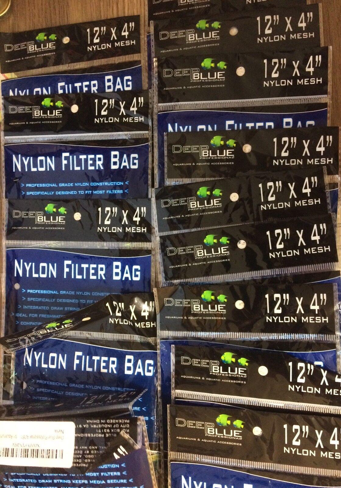 15- Deep bluee Hochleistung Poly Medien Tasche 12x4   W   Kordelzug USA