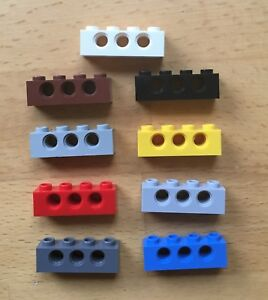Lego 6 x Lochbalken 3701 tan beige 1x4 Technik Technic Zubehör