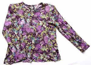 Image is loading Women-039-s-Vintage-80-039-s-Floral- 88e122571