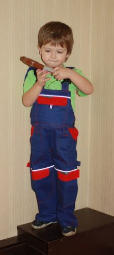 Kids  work Bib and Brace BOB Builder dungarees Trousers Overalls pants