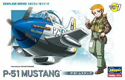 Hasegawa Eggplane 07 P-51 MUSTANG Modell Set Neu Von Japan