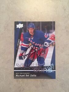 Michael-Del-Zotto-Signed-Anaheim-Ducks-Young-Guns-Rookie-Card-New-York-Rangers
