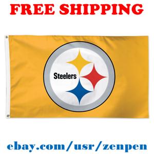 Deluxe-Pittsburgh-Steelers-Team-Logo-Flag-Banner-3x5-ft-NFL-Football-2019-NEW