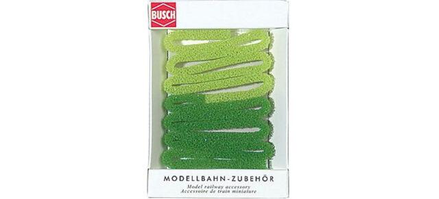 Busch 7151 Strukturmoos Hecke grün 1,5 m H0 Neu