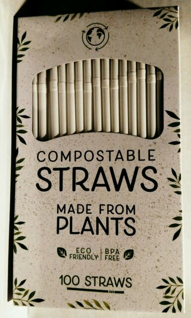 Evriholder Compostable Straws Eco Friendly Plant-Based PLA Material
