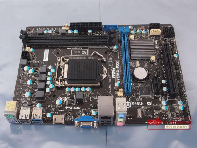 100% tested MSI MS-7808 B75MA-E33 motherboard 1155 DDR3 Intel B75