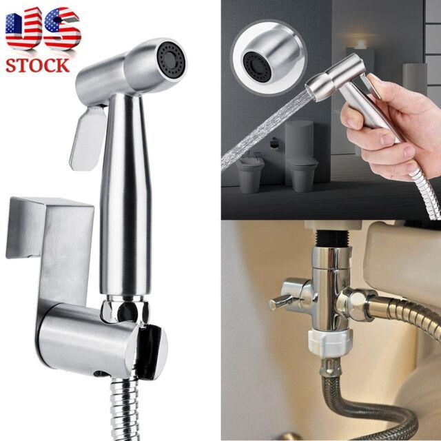 Toilet Shattaf Adapter Spray Handheld Bidet Shower Head Wall Bracket