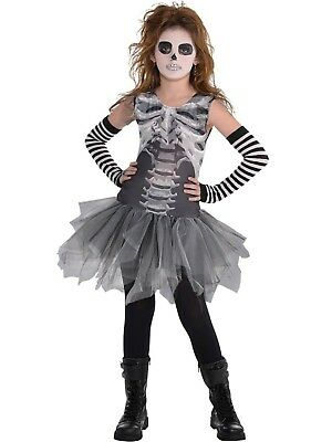 Halloween Costumes For Girls Scary.Girls Scary Skeleton Tutu Dress Halloween Fancy Dress Costume Outfit 8 10yrs Ebay