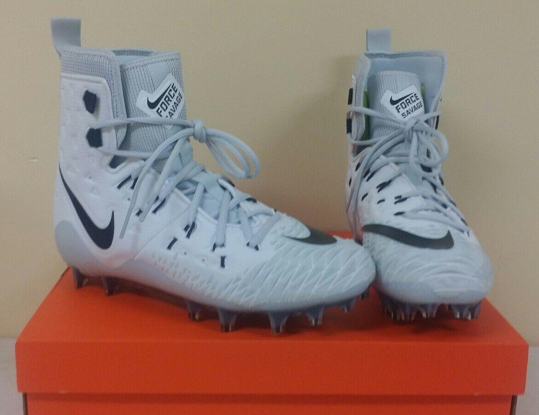 Nike TD 857063-100 Force Savage Elite TD Nike Football Cleats White Mens Size 10 NIB f2a485