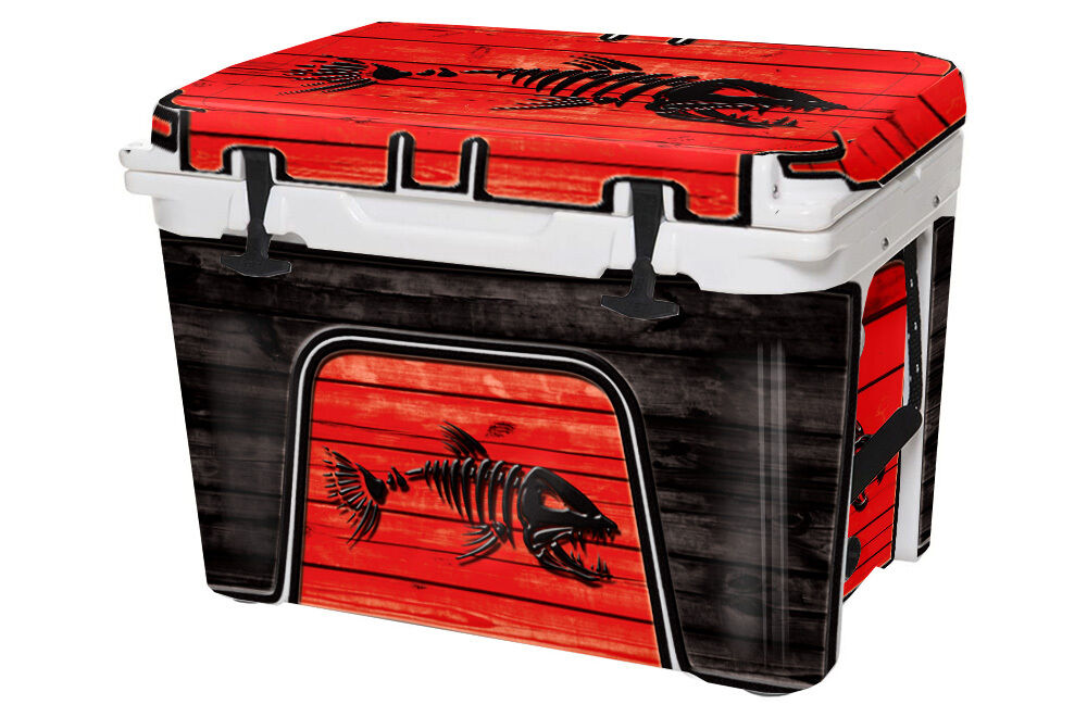 Graphic Skin Wrap Full Kit fits  YETI 75qt Cooler -  Sale - BONEFISH RED  new listing