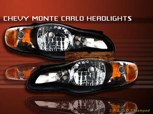 Image Is Loading 2000 2005 Chevy Monte Carlo Headlights Jdm Black