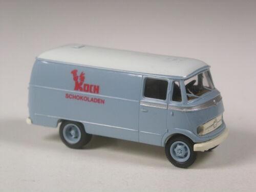 Bonito Brekina MB 319 furgonetas Koch chocolate en OVP