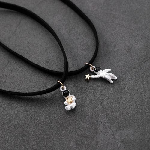 Cute Design Cartoon Space Star Astronaut Necklace Pendant Fashion Jewelry Gift