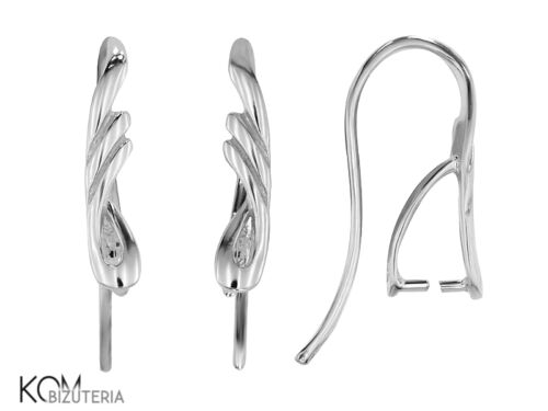 Sterling Silver Ouvrir Ear Wire Earring KH 41 1 paire