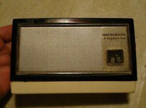 ~*Vintage Matsushita 6 Transistor Radio With Leather Case*~