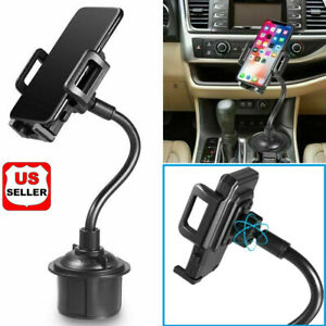 New-Universal-Car-Mount-Adjustable-Gooseneck-Cup-Holder-Cradle-for-Cell-Phone-US