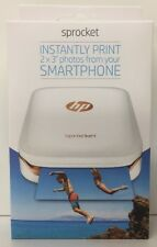 (New) HP Sprocket Photo Printer LED Mini Pocket Size Portable Bluetooth  White