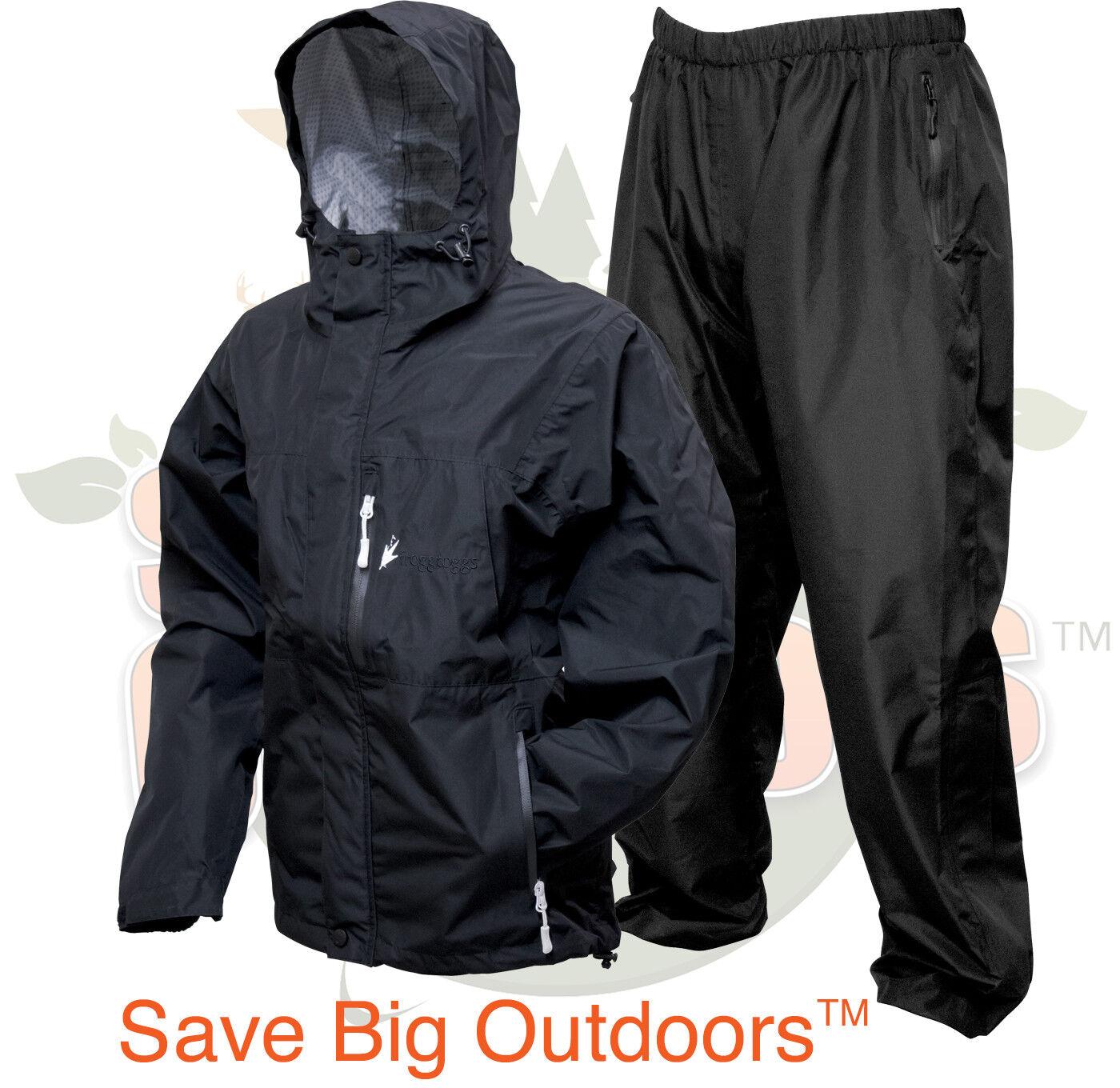 S Pequeño Mediano Frogg Toggs Mujer Negro  Java toadz sapos 2.5 Lluvia Traje Chaqueta y Pantalones  vendiendo bien en todo el mundo