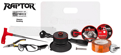Equalizer® Raptor™ Deluxe Kit F22KIT Auto Glass Wire Removal Tool
