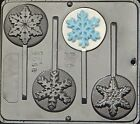 Snowflake Lollipops  Chocolate Candy Mold Christmas  2058 NEW