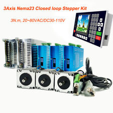 3axis 3nm Nema23 Stepper Motor Closed Loop Hybrid Servo Driver Kitcontroller